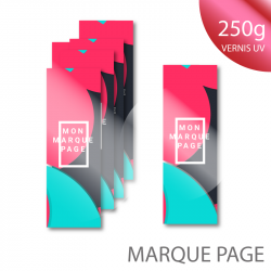 Marque-page 250g vernis UV