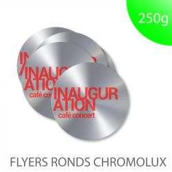 Flyer cartons d'invitation faire part chromolux chrome argent miroir