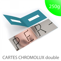 Carte chromolux chrome  double pliée  250g