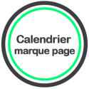 Calendrier marque page