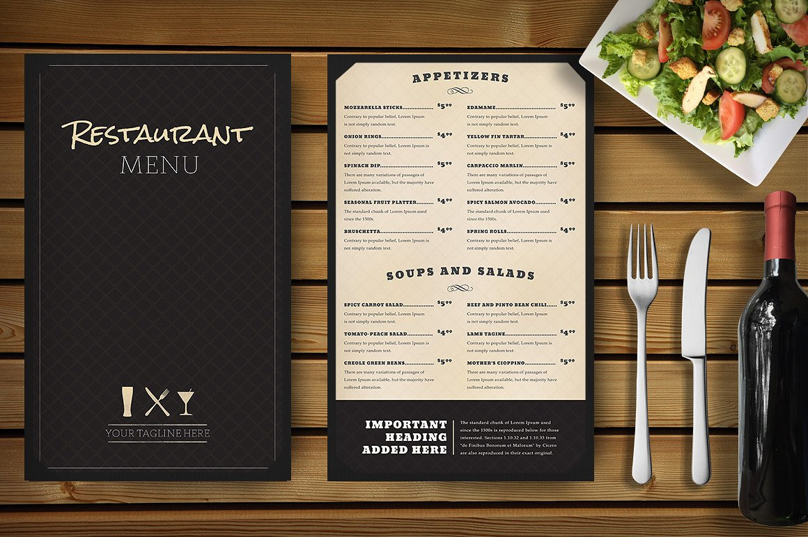 imprimeur sets de table, carte restaurant, menus